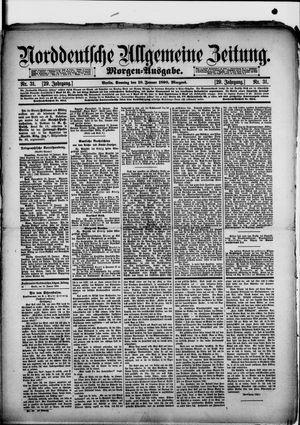 Norddeutsche allgemeine Zeitung vom 19.01.1890