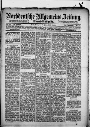 Norddeutsche allgemeine Zeitung vom 20.01.1890