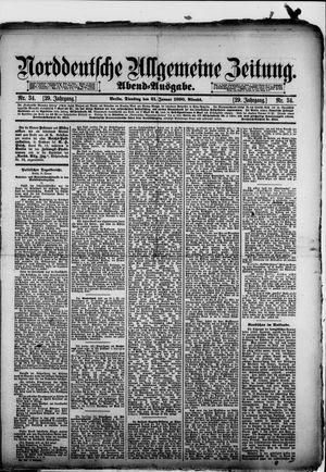 Norddeutsche allgemeine Zeitung vom 21.01.1890