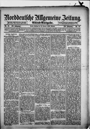 Norddeutsche allgemeine Zeitung vom 24.01.1890