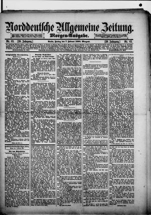 Norddeutsche allgemeine Zeitung vom 07.02.1890