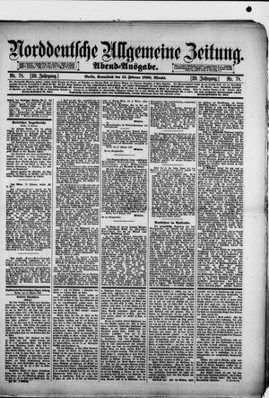 Norddeutsche allgemeine Zeitung vom 15.02.1890