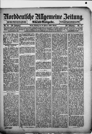 Norddeutsche allgemeine Zeitung vom 18.02.1890