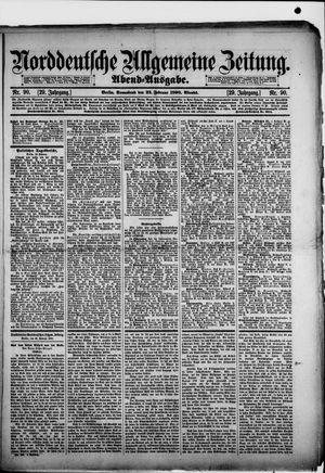 Norddeutsche allgemeine Zeitung vom 22.02.1890