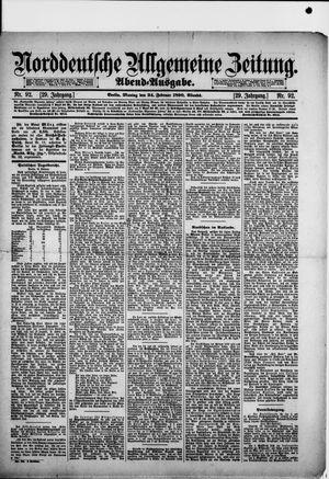Norddeutsche allgemeine Zeitung vom 24.02.1890
