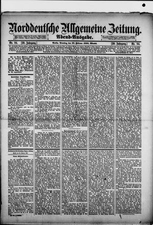 Norddeutsche allgemeine Zeitung vom 25.02.1890