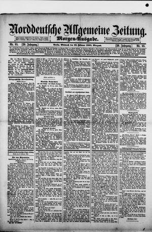 Norddeutsche allgemeine Zeitung vom 26.02.1890