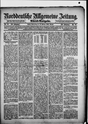 Norddeutsche allgemeine Zeitung vom 27.02.1890