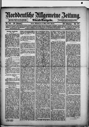 Norddeutsche allgemeine Zeitung vom 05.03.1890