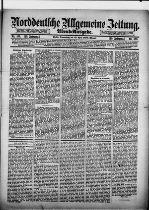 Norddeutsche allgemeine Zeitung vom 10.04.1890