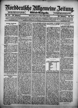 Norddeutsche allgemeine Zeitung vom 11.04.1890