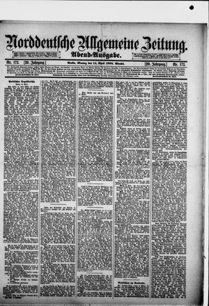 Norddeutsche allgemeine Zeitung on Apr 14, 1890