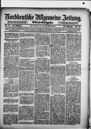 Norddeutsche allgemeine Zeitung vom 19.04.1890