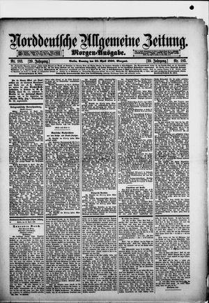 Norddeutsche allgemeine Zeitung vom 20.04.1890