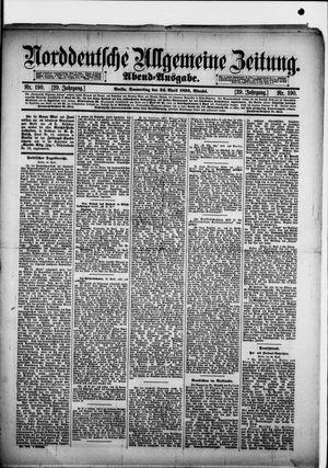 Norddeutsche allgemeine Zeitung vom 24.04.1890