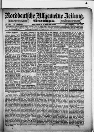 Norddeutsche allgemeine Zeitung vom 25.04.1890