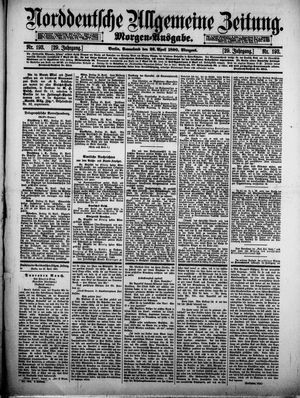 Norddeutsche allgemeine Zeitung vom 26.04.1890
