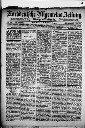 Norddeutsche allgemeine Zeitung vom 27.04.1890