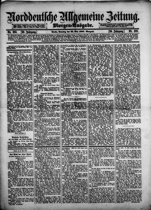 Norddeutsche allgemeine Zeitung vom 25.05.1890