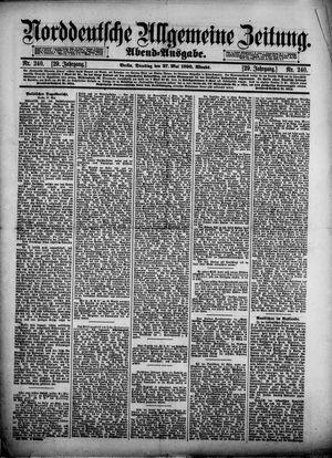 Norddeutsche allgemeine Zeitung vom 27.05.1890