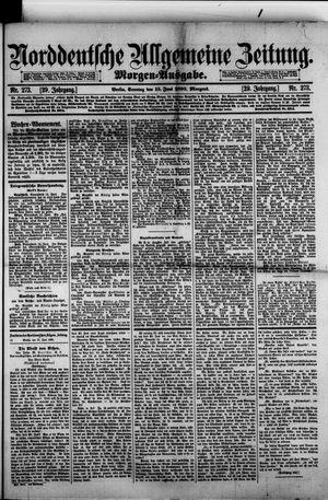 Norddeutsche allgemeine Zeitung vom 15.06.1890