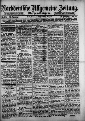 Norddeutsche allgemeine Zeitung vom 22.06.1890