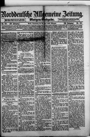 Norddeutsche allgemeine Zeitung vom 26.06.1890