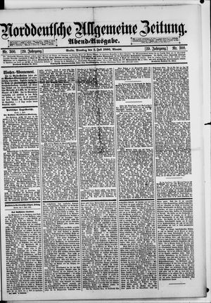 Norddeutsche allgemeine Zeitung vom 01.07.1890