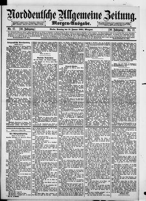 Norddeutsche allgemeine Zeitung vom 11.01.1891