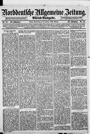 Norddeutsche allgemeine Zeitung vom 15.01.1891