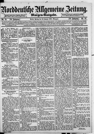 Norddeutsche allgemeine Zeitung vom 16.01.1891