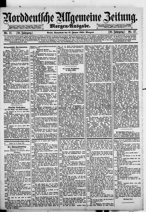 Norddeutsche allgemeine Zeitung vom 17.01.1891
