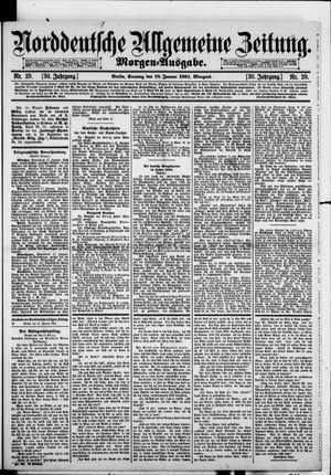 Norddeutsche allgemeine Zeitung vom 18.01.1891