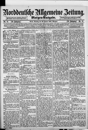 Norddeutsche allgemeine Zeitung vom 20.01.1891