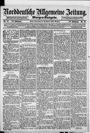 Norddeutsche allgemeine Zeitung vom 22.01.1891