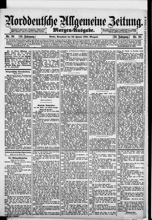 Norddeutsche allgemeine Zeitung vom 24.01.1891