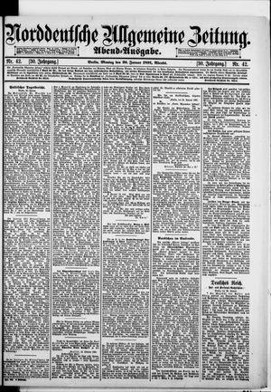 Norddeutsche allgemeine Zeitung vom 26.01.1891