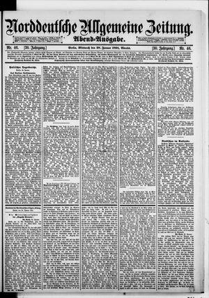 Norddeutsche allgemeine Zeitung vom 28.01.1891