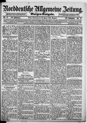 Norddeutsche allgemeine Zeitung vom 29.01.1891