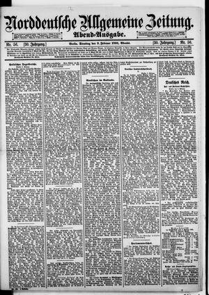 Norddeutsche allgemeine Zeitung vom 03.02.1891