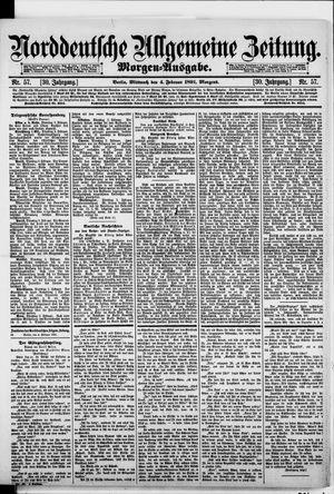Norddeutsche allgemeine Zeitung vom 04.02.1891