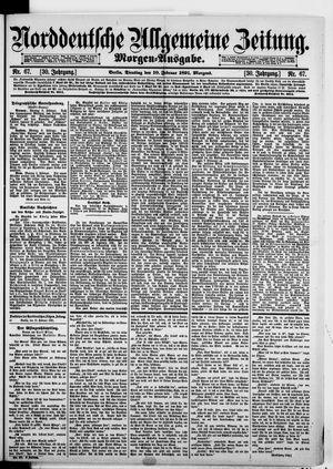 Norddeutsche allgemeine Zeitung vom 10.02.1891