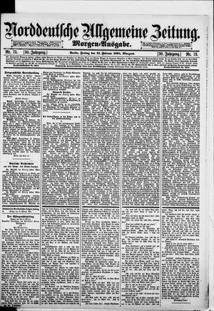 Norddeutsche allgemeine Zeitung vom 13.02.1891