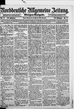 Norddeutsche allgemeine Zeitung vom 15.02.1891