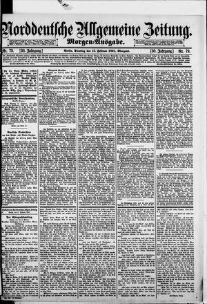 Norddeutsche allgemeine Zeitung vom 17.02.1891