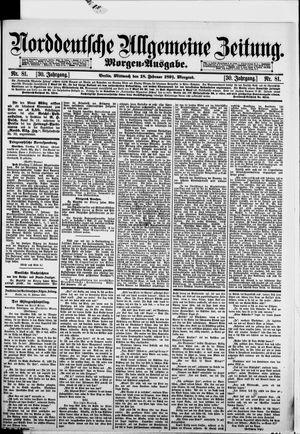 Norddeutsche allgemeine Zeitung vom 18.02.1891