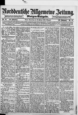Norddeutsche allgemeine Zeitung vom 19.02.1891