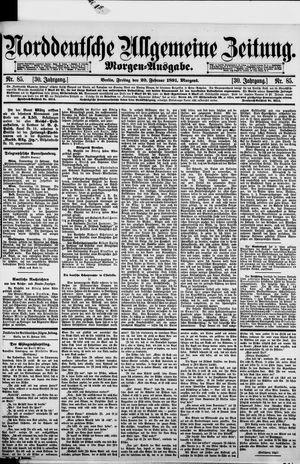 Norddeutsche allgemeine Zeitung on Feb 20, 1891