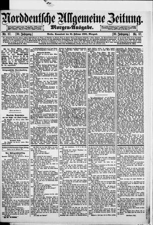 Norddeutsche allgemeine Zeitung vom 21.02.1891