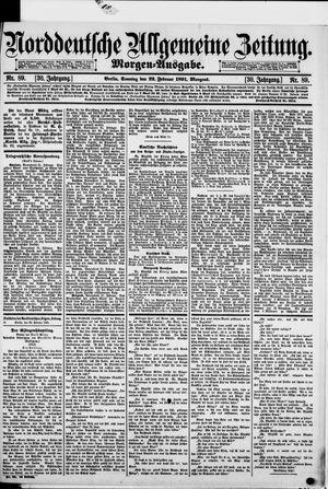 Norddeutsche allgemeine Zeitung vom 22.02.1891